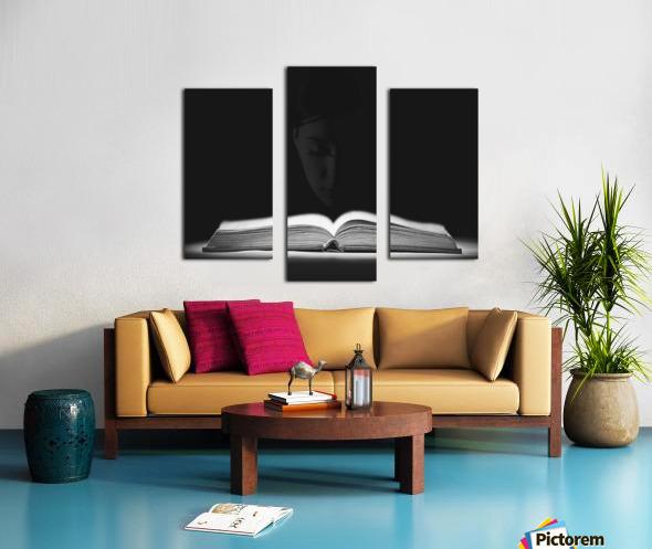 Bible Reading Canvas print