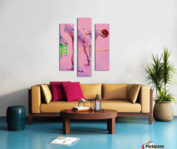 Pink Study East Canvas print