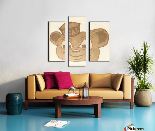 1966 Cal Bear Art | Row 1 Canvas print