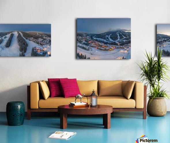 Fairytale Village Wide Canvas print