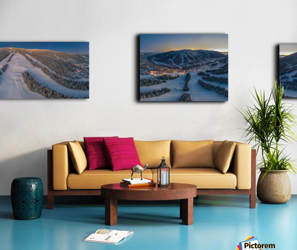 Valley Twilight Wide Canvas print