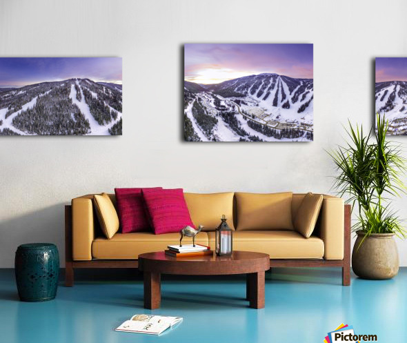 Valley Sunset Wide Canvas print