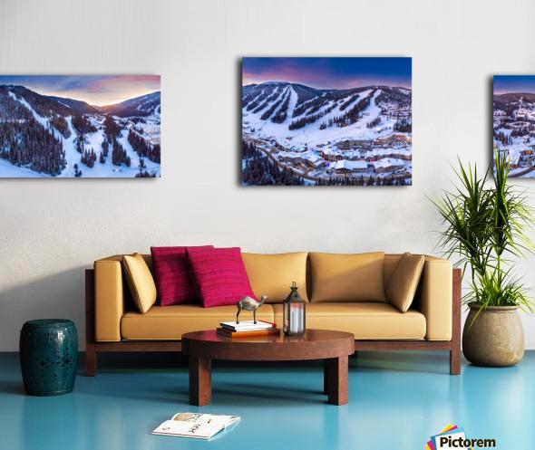 Village Sunset Wide Canvas print