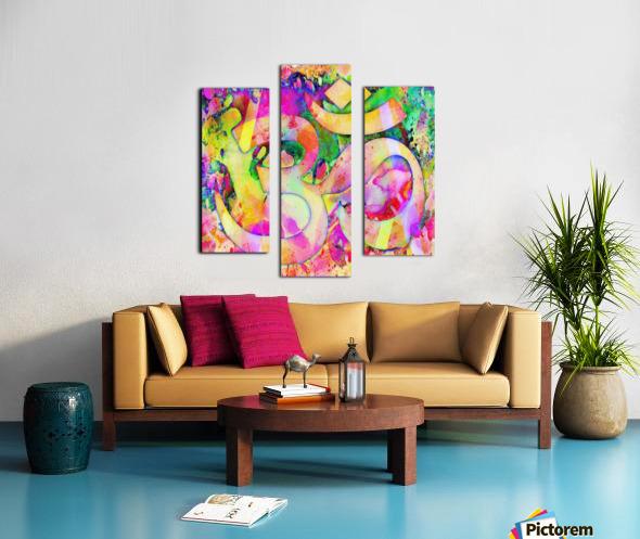 Om Rays Canvas print