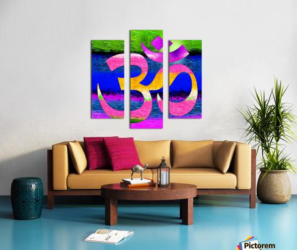 Om Waves Canvas print