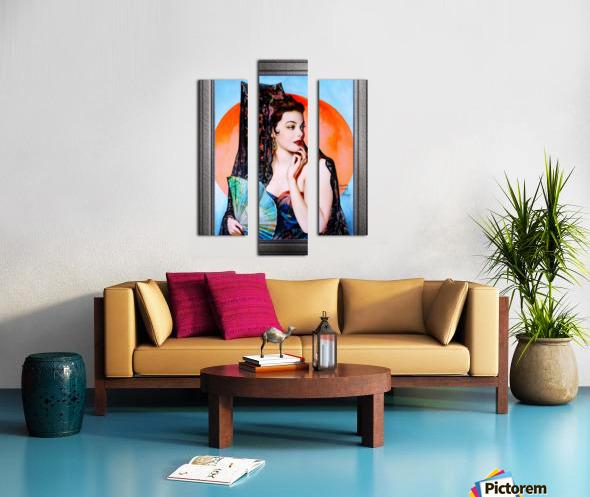 Gene Tierney as Lola Montez by Henry Clive Vintage Xzendor7 Old Masters Art Deco Reproductions Canvas print
