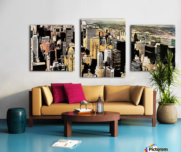 View to the Chrysler Building New York Canvas print