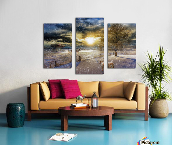 A Magical Winter Night Canvas print