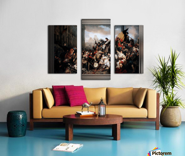Episode of the September Days 1830 by Gustave Wappers Classical Fine Art Xzendor7 Old Masters Reproductions Canvas print