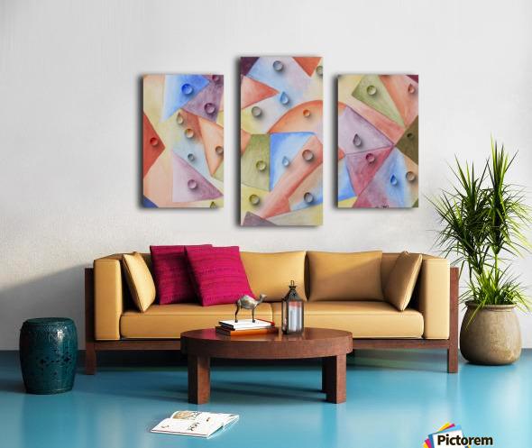 Rainbow Water Drops Canvas print