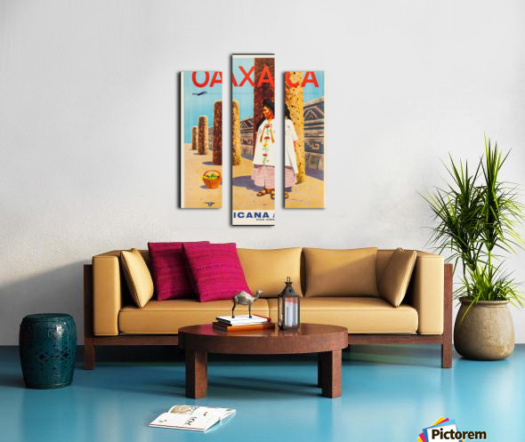 Mexicana Airlines Oaxaca travel poster Canvas print