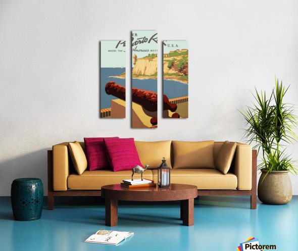 Discover Puerto Rico USA travel poster Canvas print