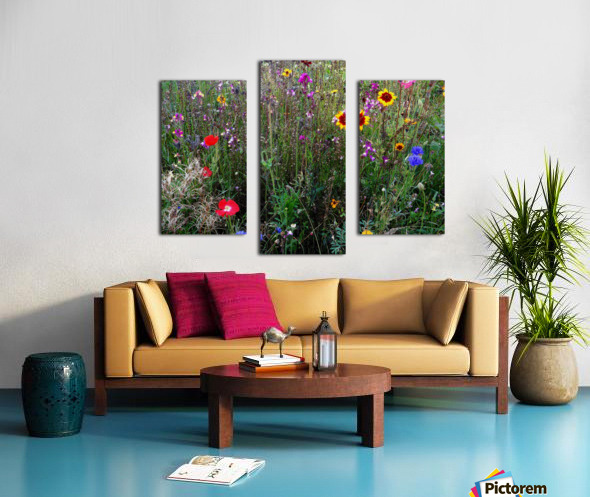 English Cottage Garden Flowers 2 Canvas print