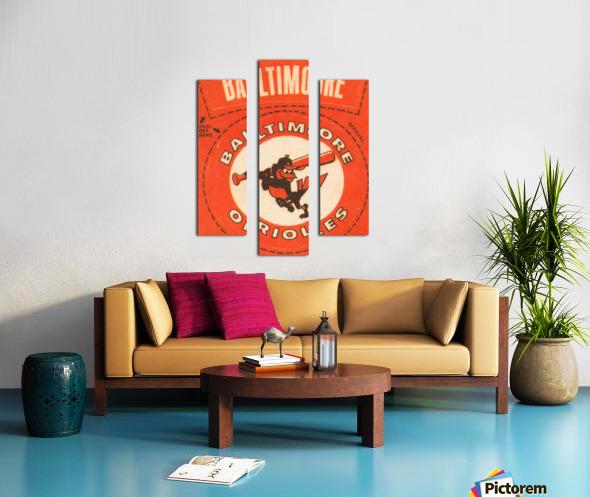 1969 Baltimore Orioles Fleer Cloth Patch Art | Row 1 Canvas print