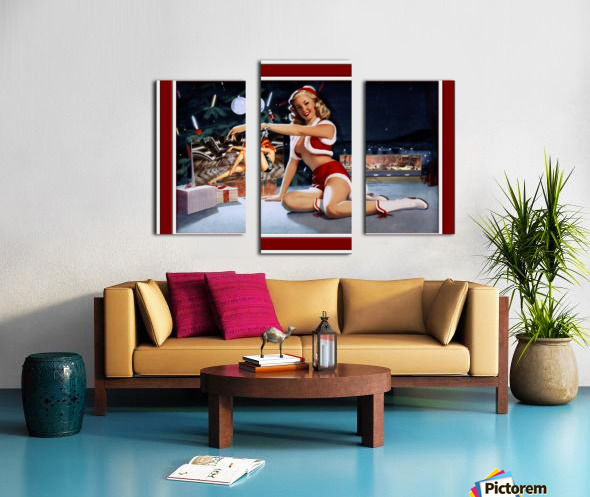 Christmas Pinup by Bill Medcalf Art Old Masters Xzendor7 Reproductions Canvas print