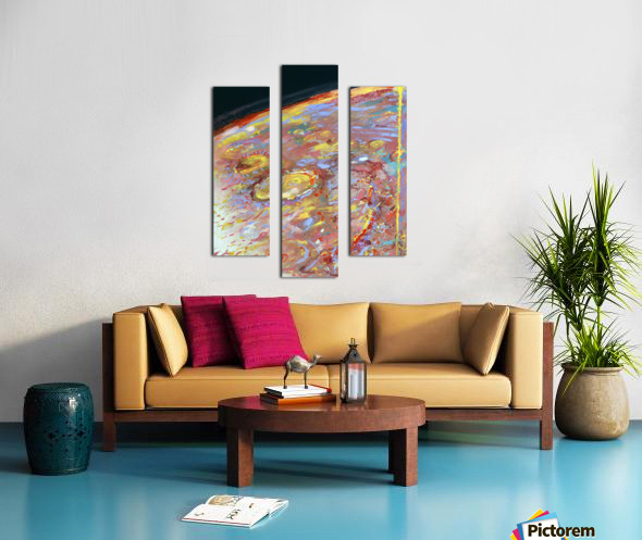 Worlds First Martianpressionist Painting Canvas print