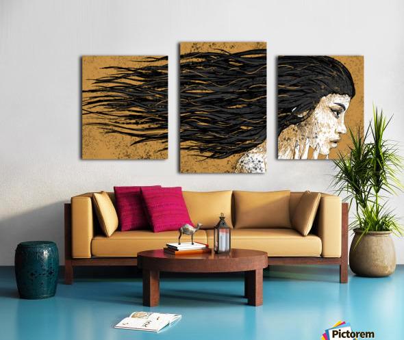 Precious Metals - Concept Art 1 - Gold Canvas print