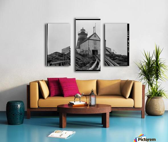 Saddleback-Ledge-Lighthouse-Maine Canvas print