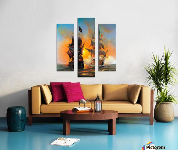 Marauders of the Sea Canvas print