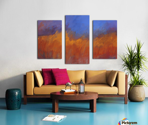 Orange and Blue Landscape Canvas print