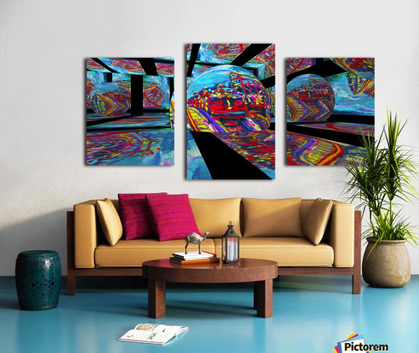 EXTREME Roller Coaster RoomXpander tm Tracking Art Canvas print