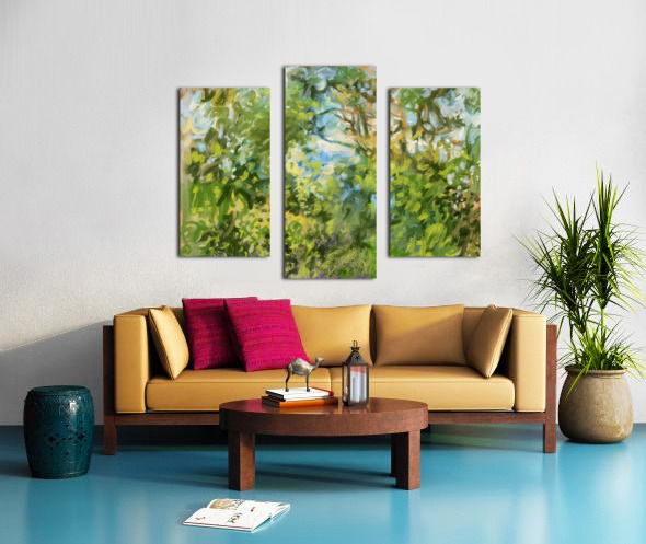 Morning View from my Breakfast Table Canvas print