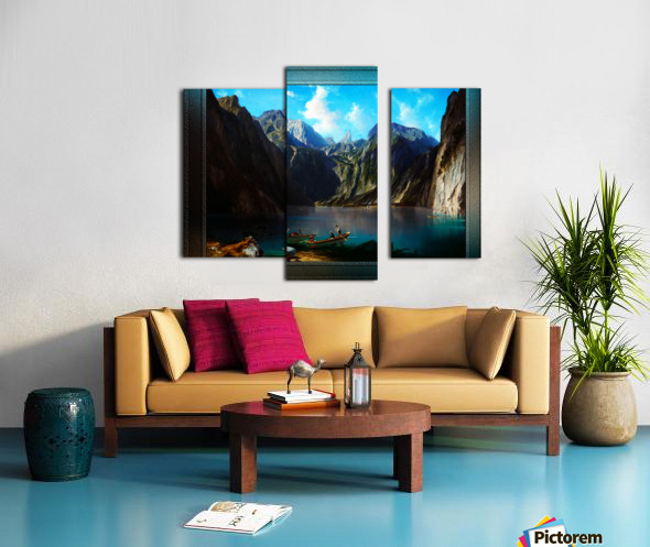 Konigsee c1873 by Willibald Wex Classical Fine Art Xzendor7 Old Masters Reproductions Canvas print