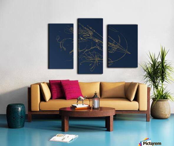 Vanishing Point Dusk Canvas print