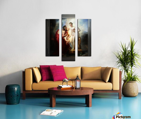 Pygmalion et Galatee byAnne-Louis Girodet-Trioson Classical Fine Art Xzendor7 Old Masters Reproductions Canvas print