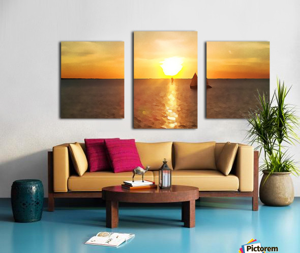 Pierce Anderson Sail Boats Art Canvas print