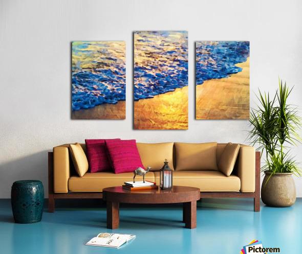 Manhattan Beach Water Canvas print