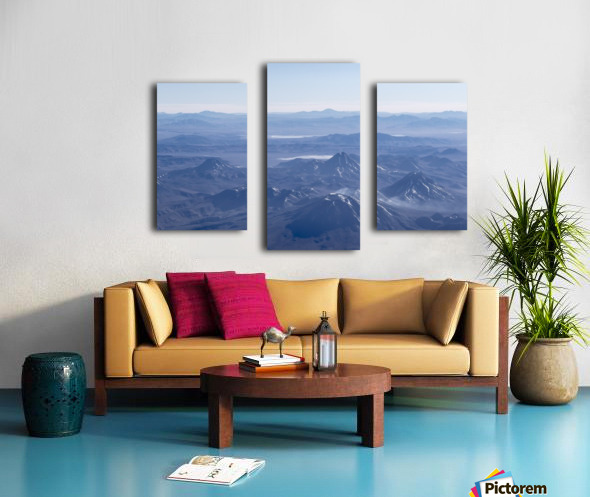 Window Plane View of Andes Mountains Canvas print