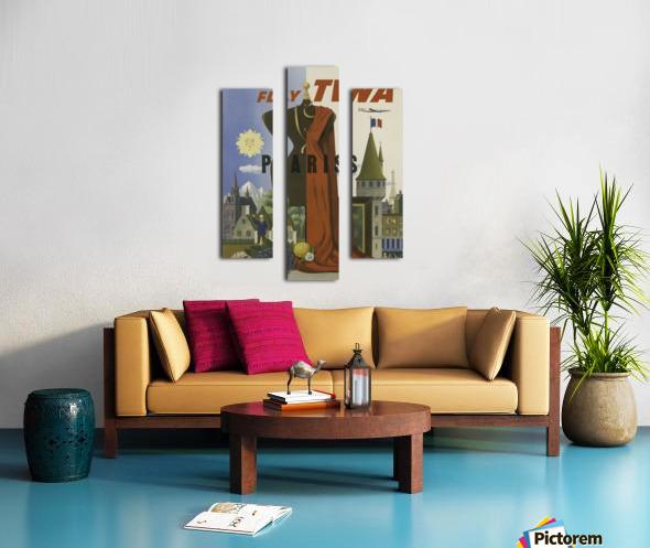 Fly TWA Paris Tourism Poster Canvas print