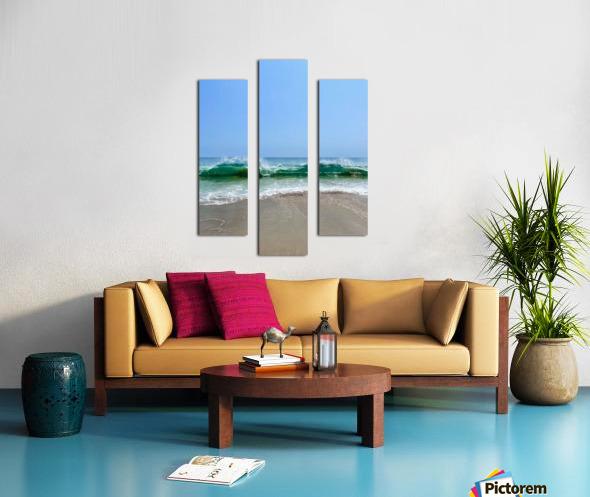 Crashing Waves - Malibu CA Canvas print
