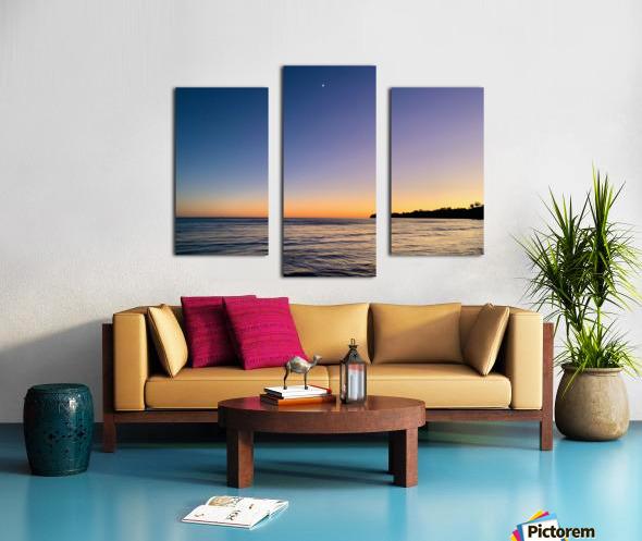 Sunset Moon - Malibu CA Canvas print