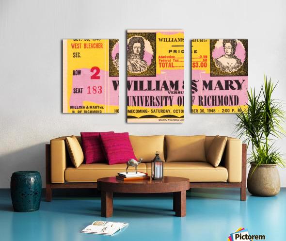 1948 William and Mary vs. Richmond Canvas print