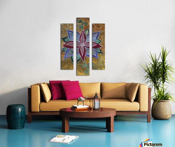 GoldenBackground Canvas print
