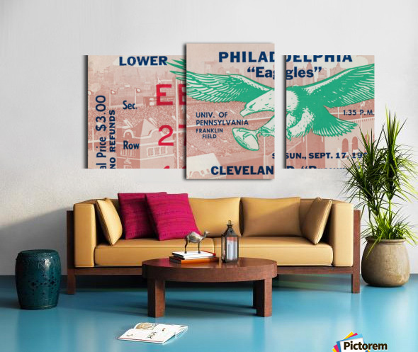 1961 Philadelphia Eagles vs. Cleveland Browns  Canvas print