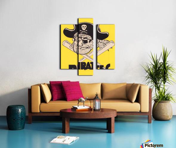 Vintage Sixties Pittsburgh Pirates Art Canvas print