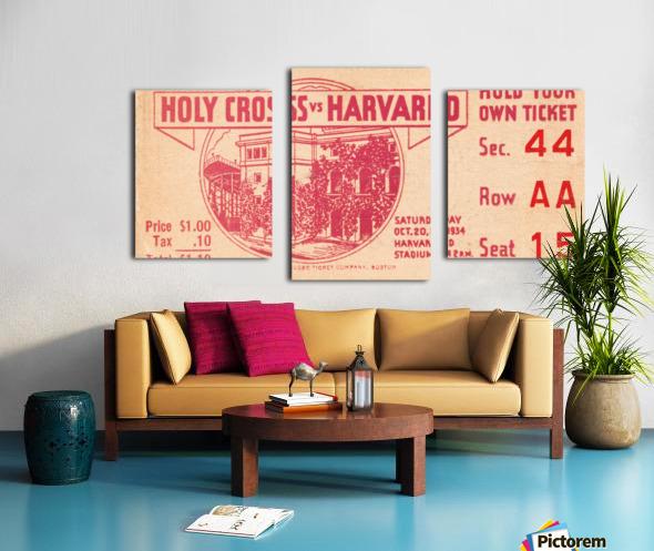 1934 Holy Cross vs. Harvard Canvas print