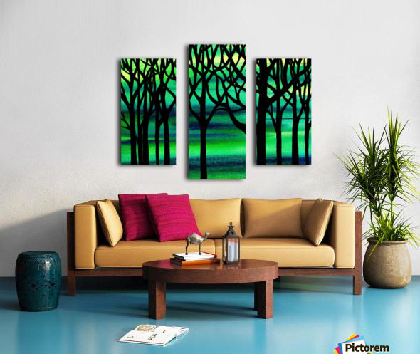 Abstract Spring Forest Canvas print