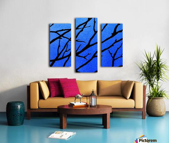 Ultramarine Forest Winter Blues II Canvas print