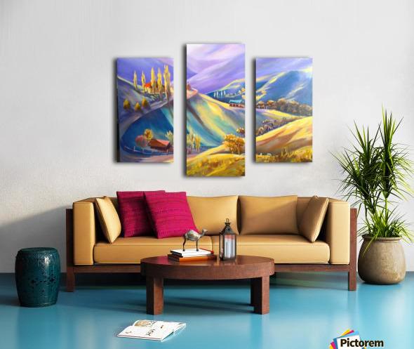 Moeciu landscape  Canvas print