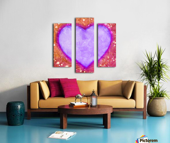 Vibrant Love Digital Art Collage Canvas print