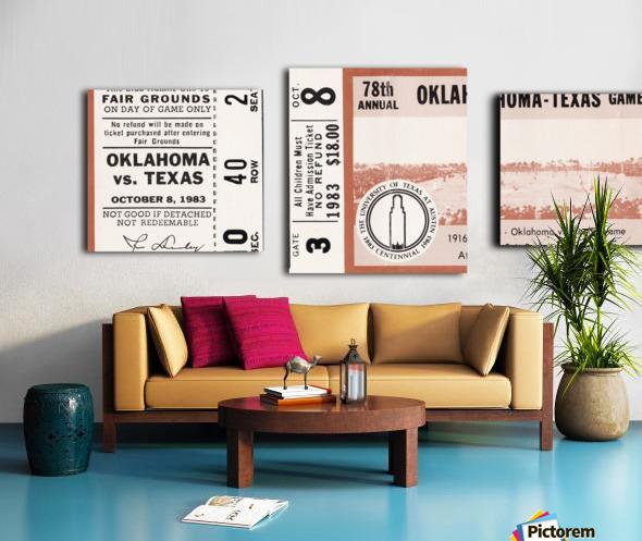1983 Oklahoma Sooners vs. Texas Longhorns Canvas print