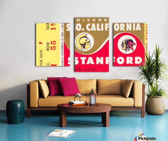 1962 Stanford Indians vs. USC Trojans Canvas print
