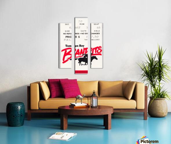 1985 Tampa Bay Bandits Ticket Stub Art Canvas print