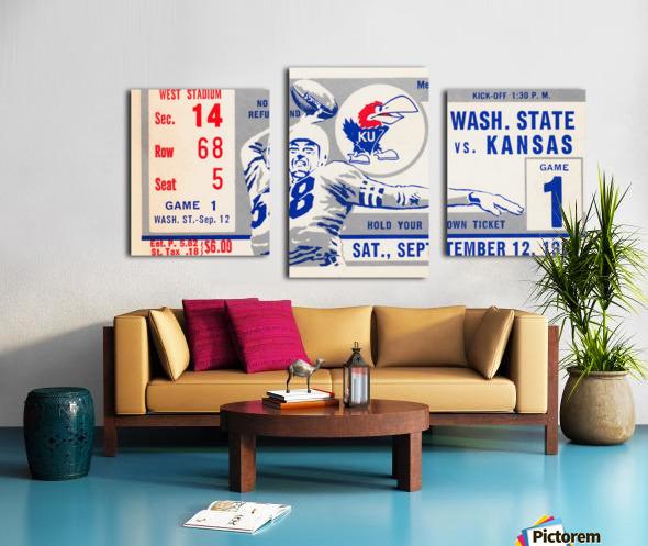 1970 Kansas Jayhawks vs. Washington State Cougars Canvas print