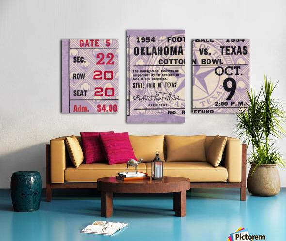 1954 Oklahoma Sooners vs. Texas Longhorns Canvas print
