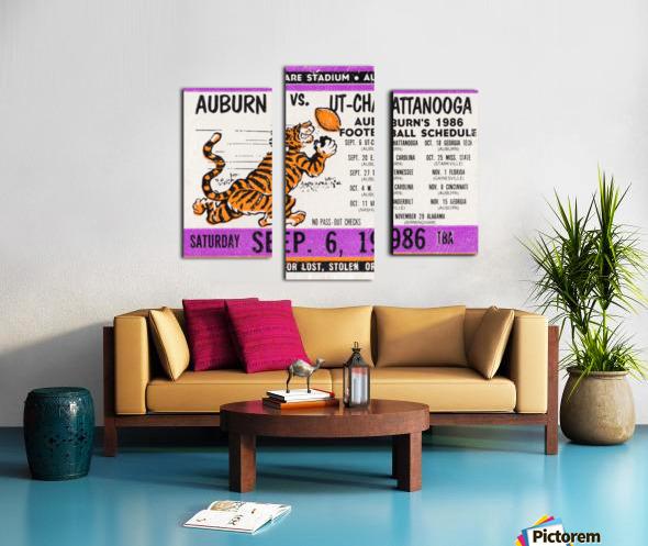 1986 Auburn Tigers vs. Chattanooga Mocs  Canvas print